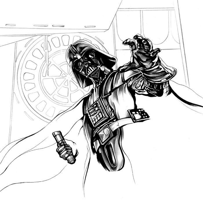 Как нарисовать Дарта Вейдера карандашом поэтапно